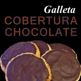 galletas con cobertura de chocolate